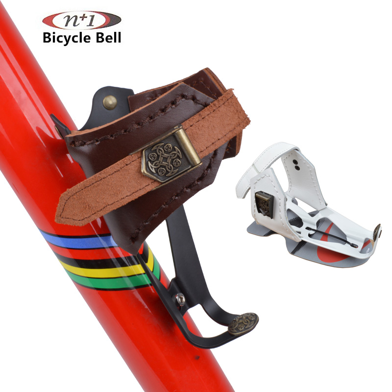 ФОТО Taiwan N+1 highway of mountain folding bike Leather Vintage bottle rack can adjust the size of cup holder