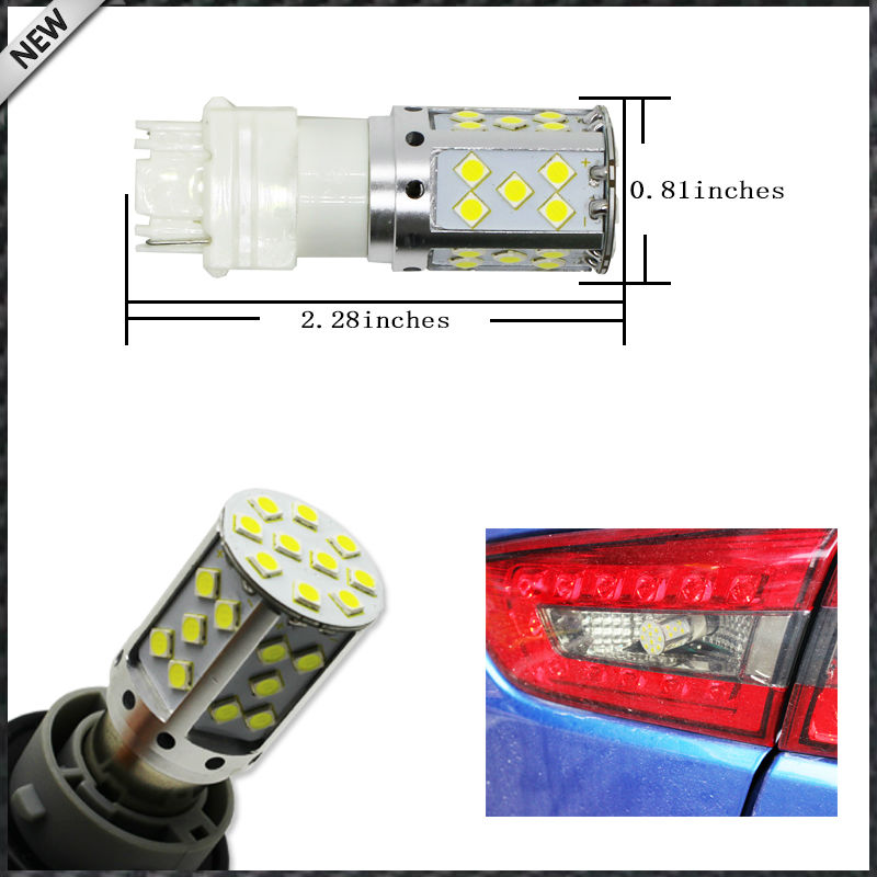 TWO HID WHITE Error Free 3156 3457 Euro Car SMD LED Front Turn Signal Lights