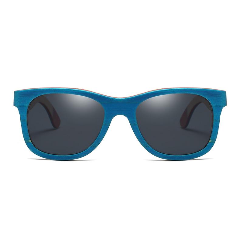 5a5258745864c EZREAL Skate De Madeira óculos de Sol Azul Espelhado Óculos De Sol De Bambu  Quadro Com Revestimento UV 400 Lentes de Proteção em Caixa De Madeira em  Óculos ...