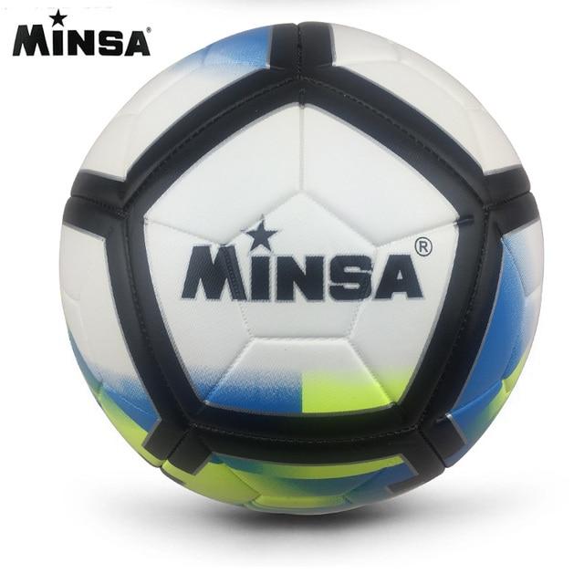 2018 MINSA alta calidad tamaño 5 PU balón de fútbol para el entrenamiento  del partido bolas 3f54c5458dffb