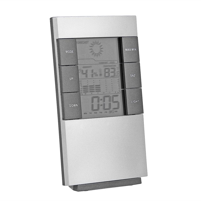 Household Digital LCD Display Hygrometer Thermometer Temperature Humidity Meter Clock Alarm