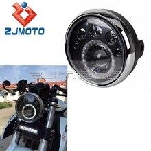"""Motocicleta e mark e4 e24 7 """"led cabeça luz st cafe racer ironhorse chopper personalizado 7"""" farol 12 v alta baixo feixe de luz corrida"""