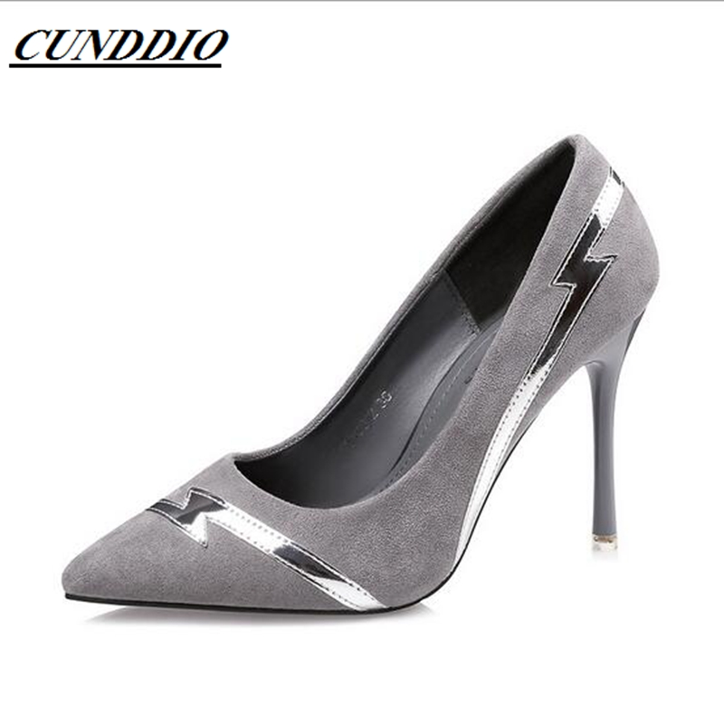 5158-2 Korean fashion pointed shallow mouth high heels nightclub sexy thin women's shoes with fine suede shoes spring summer high heels 2016 korean thin heels with a fine pointed shallow mouth sexy wedding shoes wear comfortablesuede shoes