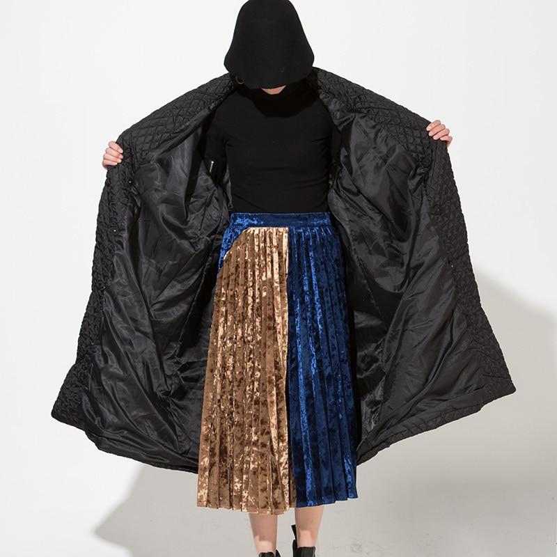 Lâche Très Européenne Tempérament Wth1201 Black eam Manches Hot Long Femmes À New Qualité Longues Noir Manteau 2019 Chaud Haute 7qqFBv