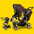 Twins stroller baby stroller bb double front and rear car light folding baby child car