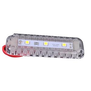 Image 3 - 12 V LED Lagerung Zimmer Dome Licht Kunststoff Weiß Lesen Lampe für Marine Yacht Boot Motor Home Zubehör