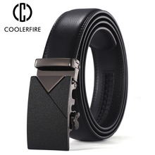 Men Leather belt men male genuine leather belt Automatic Buckle Fashion Designer High Quality Man belts luxury brand ZD085 цена