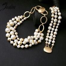 Ювелирные изделия joolim оптом/имитация жемчуга ожерелье браслет набор Американский и Европейский стиль ювелирные изделия Индивидуальные ювелирные изделия