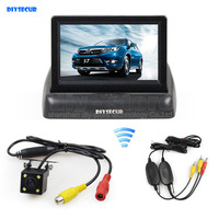 DIYSECUR Wireless 4 3inch Car Reversing Camera Kit Car Monitor LCD Display Security LED Night Vision