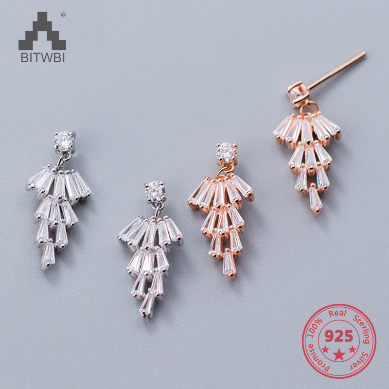 2018 Neue Stil S 925 Sterling Silber Mode Kreative Persönlichkeit Weihnachten Bäume Zirkon Kristall Stud Ohrring