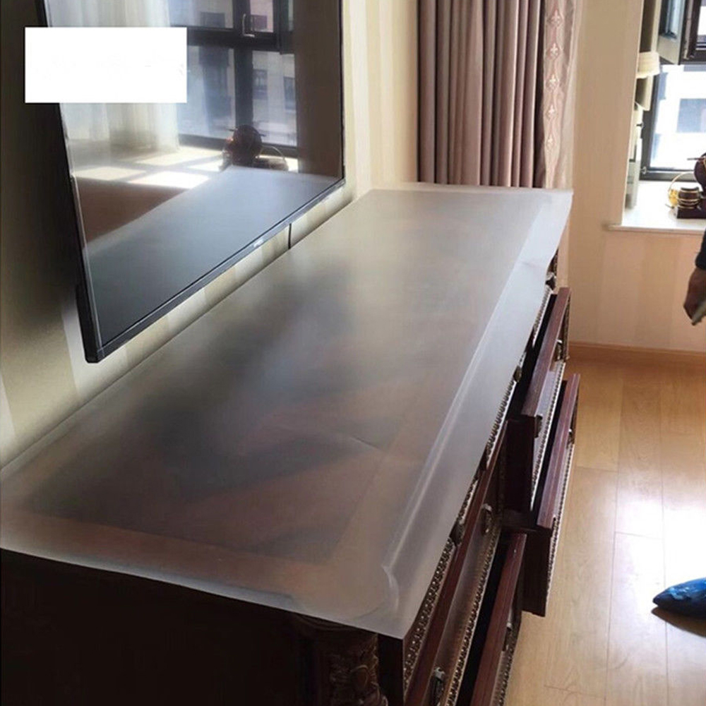 50x200cm 0.05mm Transparent Matte Self Adhesive Solid Furniture Film Coffee Table Kitchen Marble Desktop Protective Film