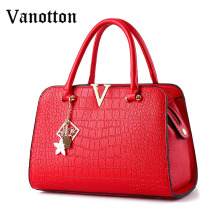 2016 new women's fashion brand PU leather handbag trend simple shoulder bag ladies messenger bag