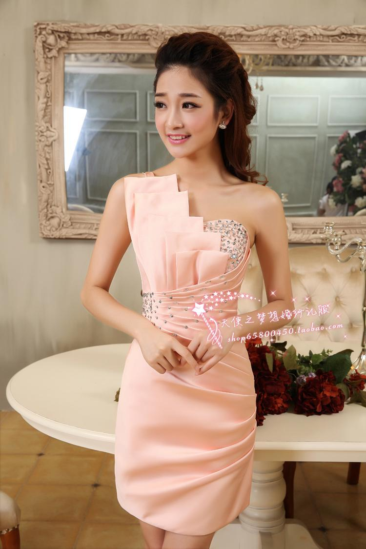 Online Shop free shipping 2014 bride wedding formal short dresses