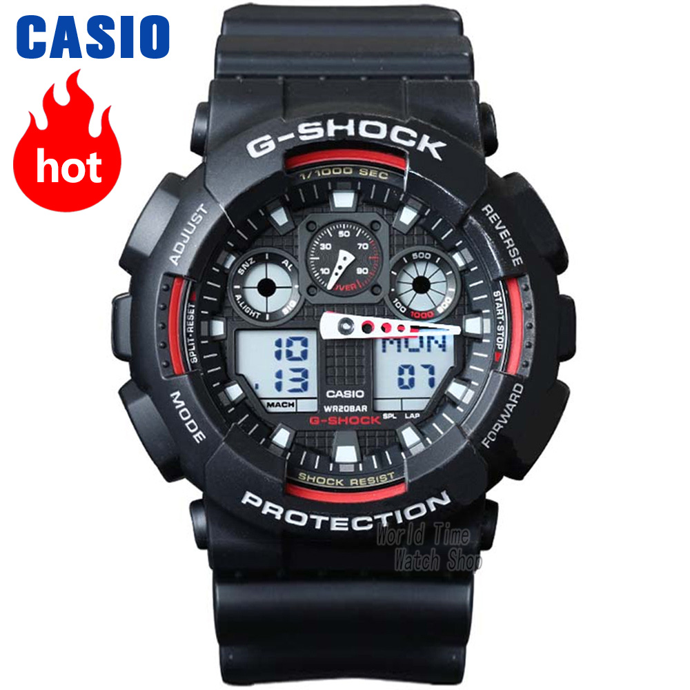 Casio watch G-SHOCK Men's quartz sports watch Shockproof and waterproof multi-function tide male g shock Watch GA-100