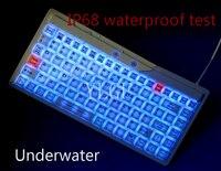 Ylgf L27LED-WH, IP67, IP68, Водонепроницаемый клавиатура, промышленная клавиатура, силикон, mute, подсветка, Встроенный, светодиодная подсветка