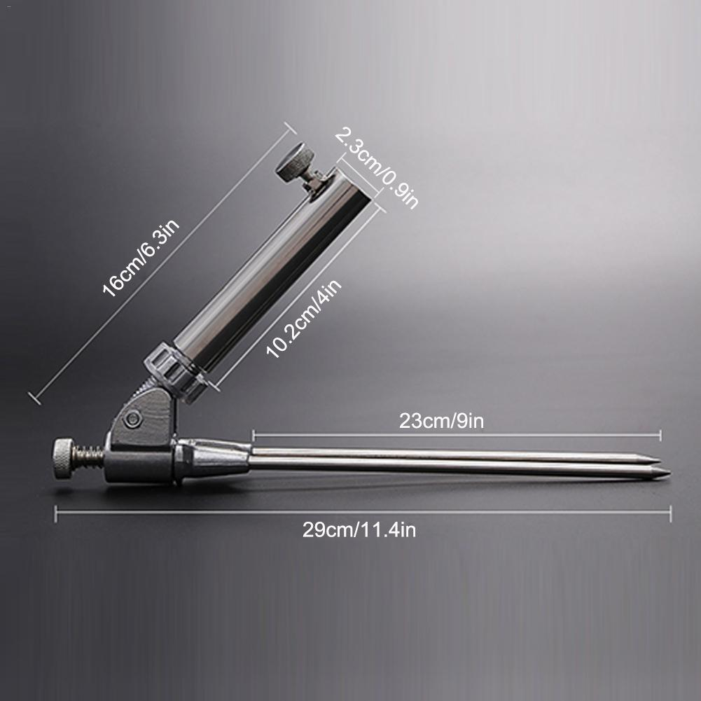 Stainless Steel Fishing Rod Pole Holder Support Stand Insert Grand Bracket