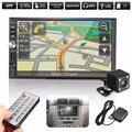 7 Дюймов 2 Дин Bluetooth В Тире MP5 Плеер GPS Навигация USB FM TF + 170 Градусов Вид Сзади Автомобиля Реверсивного камера
