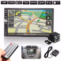 7 Inch 2 Din Bluetooth Car In Dash MP5 Player GPS Navigation USB FM TF+170 Degrees Car Rear View Reversing Camera