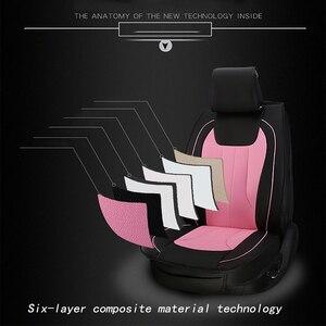 Image 3 - Чехлы kalaisike на сиденья автомобиля, кожаные универсальные чехлы для Suzuki, все модели, grand vitara, vitara, jimny swift, Kizashi, SX4, liana, Стайлинг автомобиля