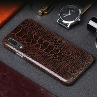Wangcangli Luxury leather phone case for Huawei P20 ostrich foot skin phone case fashion mobile phone protection back shell