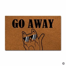 Funny Door Mat Go Away Cat Printed Doormat Outdoor Indoor Non-woven Fabric Top Rubber Back 15.7x23.6 Inch