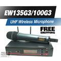 Бесплатная доставка! высокое Качество Профессиональной EW135G3 УВЧ Беспроводной Микрофон EW 100G3 Беспроводная Система С e835 Ручной Передатчик