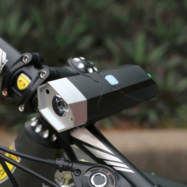 3W Bicycle Headlight Horn Lamp Mountain Bicycle Warning Lamp Electronic Horn Bell Strong Light Bicycle Light Top quality