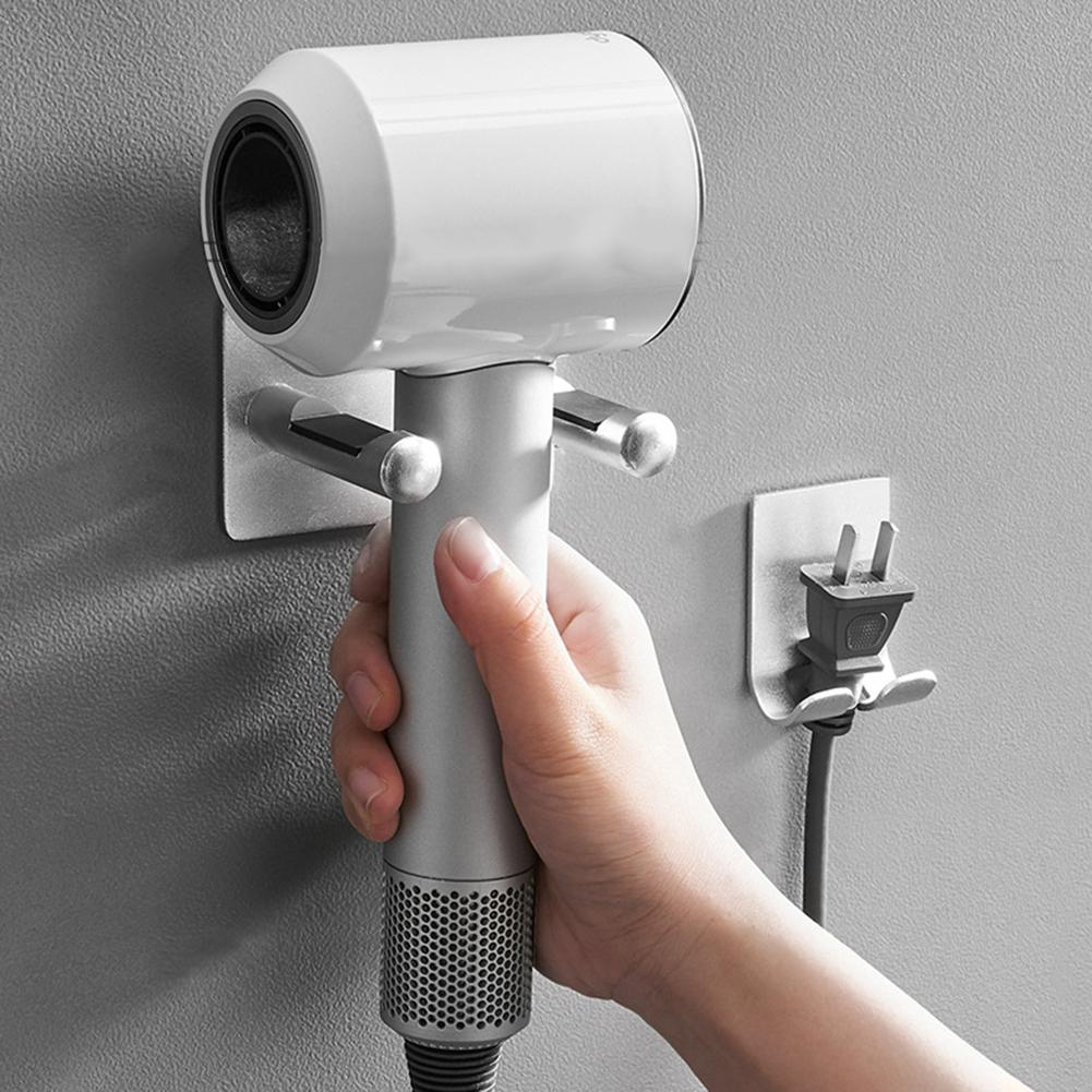 For Dyson Hair Hanger Wall Mount Blow Dryer Holder Bracket Free Punch Hanger Bathroom Storage Rack