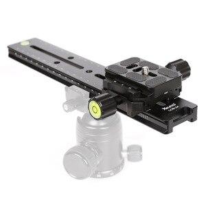 Image 2 - XILETU LCB 24B Track Dolly Slider фокусировочная фокусировка рельса слайдер и зажим с QR пластиной подходит Arca Swiss для DSLR камеры Nikon Canon