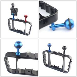 Image 4 - Aluminum 1/4 inch Screw Ball Adaptor CNC Mount Adapter for GoPro 5 4 Session Sjcam yi Action Camera Diving Photo Studio Kit
