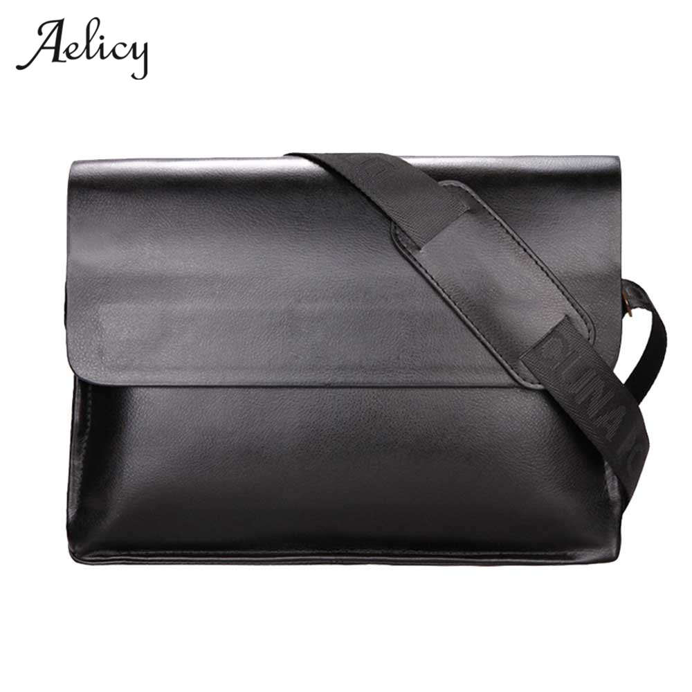 Aelicy New Famous Brand Leather Men Bag Casual Business Leather Mens Messenger Bag Vintage Men's Crossbody Bags Bolsas Male