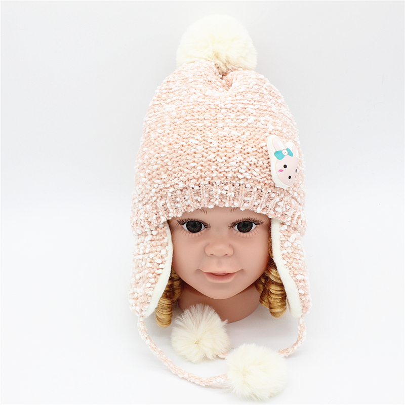 6d34f67e2c9 Baby Kids girl soft flannel earmuffs hat cap for winter warm toddler child  boy ear protection