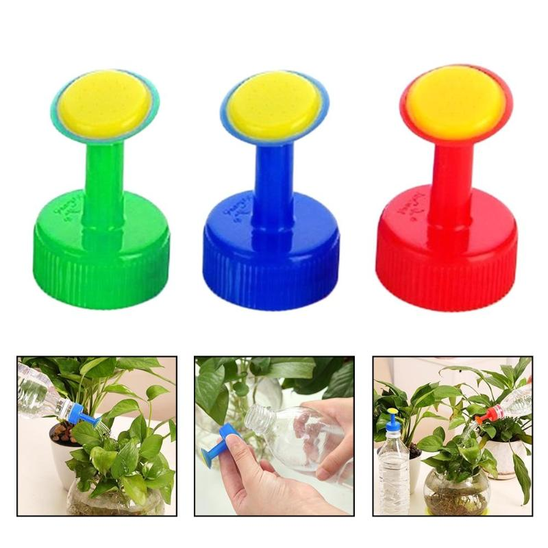 1Pc Plastic Home Pot Watering Bottle Nozzle For 3cm Water Bottle Sprinkler Nozzle Plants Flower Watering Tools Random Color 1