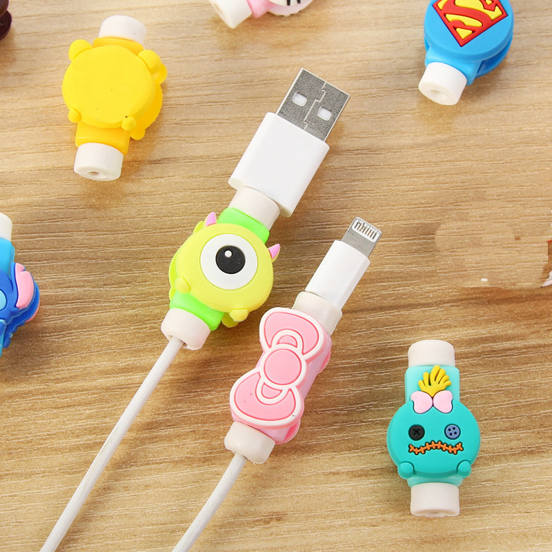 Travel Accessories Cute Animals Cable Winder Earphone Protector USB Line Phone Holder Accessory Packing Organizers Dropshipping