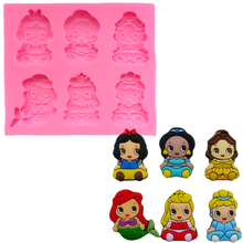 Mermaid Princess Baking Silicone Mold Chocolate Cake Tools Decorating Soap Mould Decorations for Cakes 3d