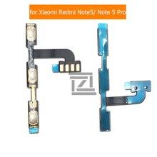 Гибкий кабель питания для Xiaomi Redmi Note 5 Pro, переключатель громкости ВКЛ./ВЫКЛ., Боковая кнопка, гибкий кабель, запасные части для ремонта