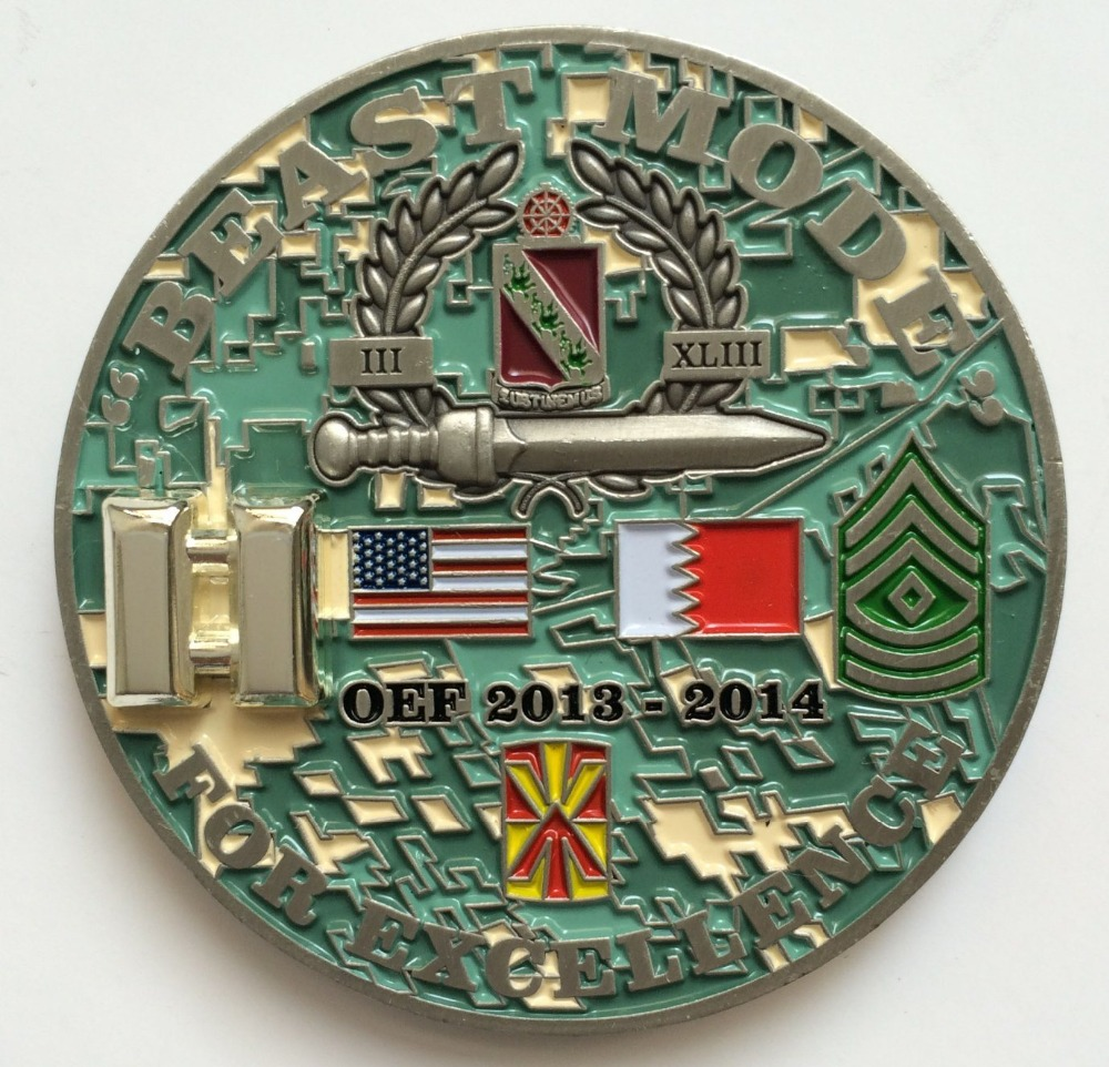 Hottest sell military flag coin New fashion engraving 3D