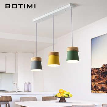 Compras baratas BOTIMI nórdica colgante LED luces para comedor de ...