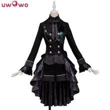 UWOWO Anime negro Butler Ciel Phantomhive Cosplay traje de hombre completo  conjunto traje para la fiesta de Navidad de Halloween. 9fd8713268bc
