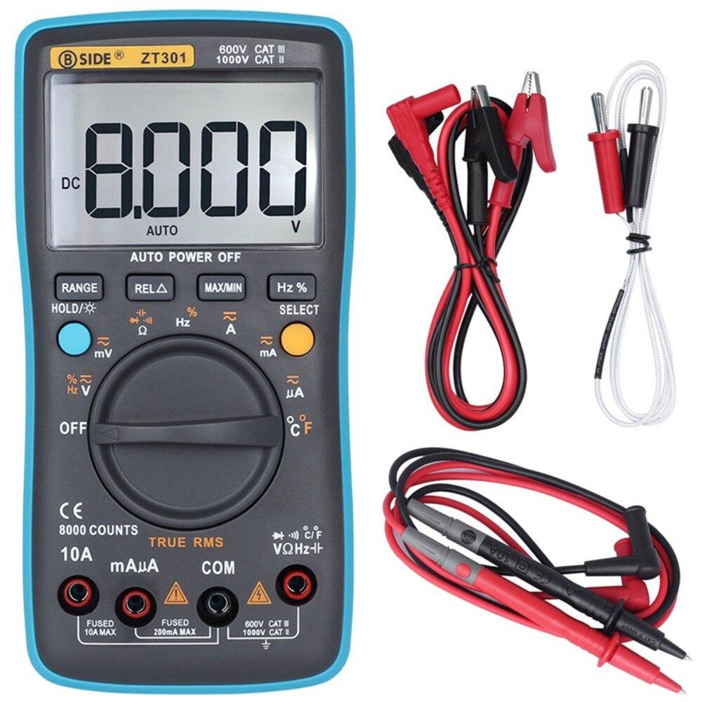 BSIDE Auto Range Digital Multimeter True Rms DC/DA Voltmeter Amperemeter multimetro Widerstand Kapazität Tester ZT301 ZT302