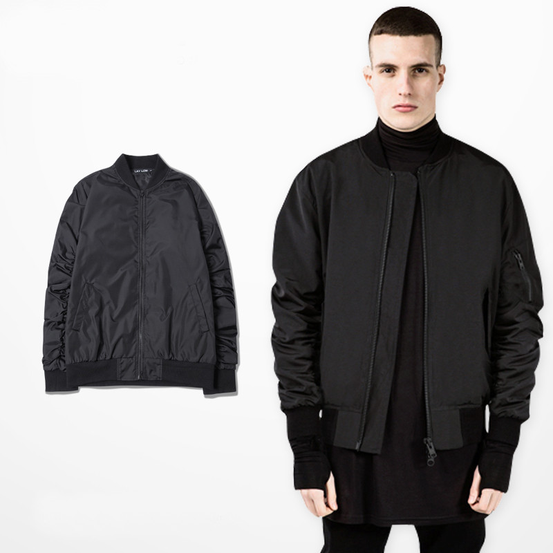 Popular Mens Black Bomber Jacket-Buy Cheap Mens Black Bomber ...