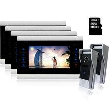 Homefong 10″Home Door Video Intercom Doorbell Phone Camera  Kits 4 Indoor Station  2 Doorbell Camera Volume adjustable ip65