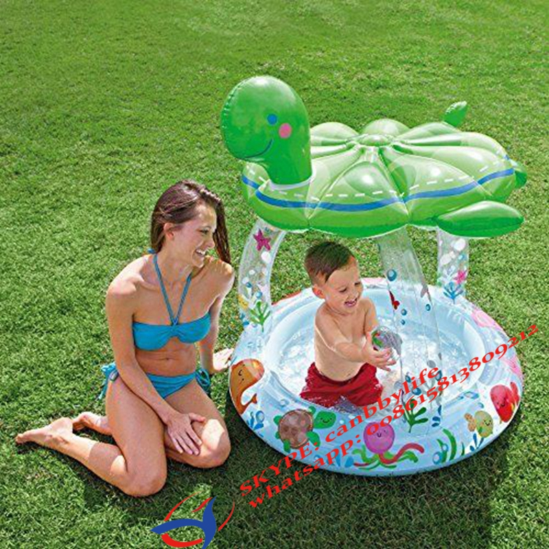 Intex Sea Turtle Sunshade Infant Paddling Pool Inflatable
