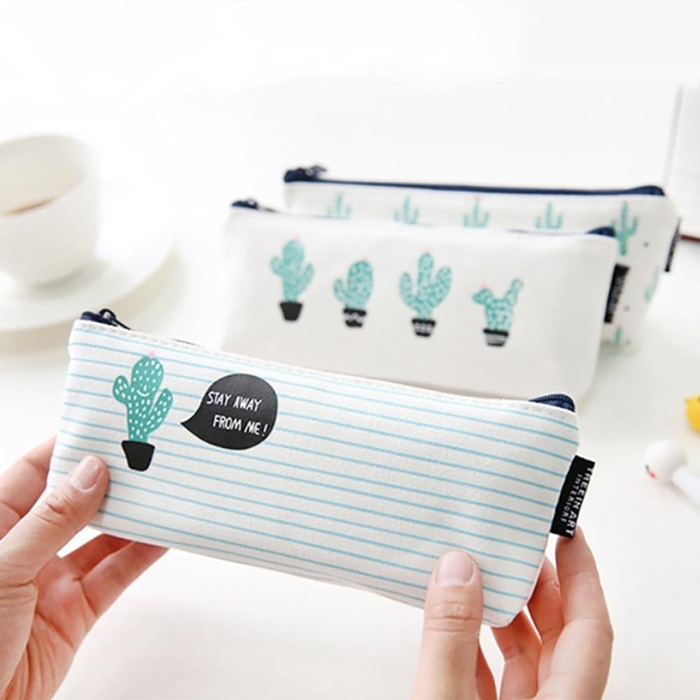 Fashion Hot Girls Plants Stationery Pencil Pen Case Cosmetic Makeup Bag Key Holder Change Purse Money Zipper Bag Small Pocket