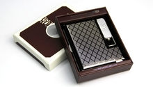 Metal Smoking Box With USB Charging Lighter,Cigarette Case Cool Electronic Lighter Windproof Cigar Lighters