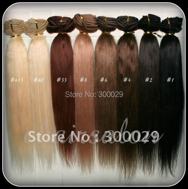 "20"" - 26""  Full Head thickest 160g Remy Clip in Human hair extension Black, Brown, Blonde Optional 10 Colors available"
