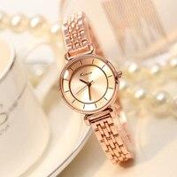 Men Watches 2016 Women Watch Clover Famous Brand Fashion Stainless Steel Bracelet Quartz Wrist Watches For