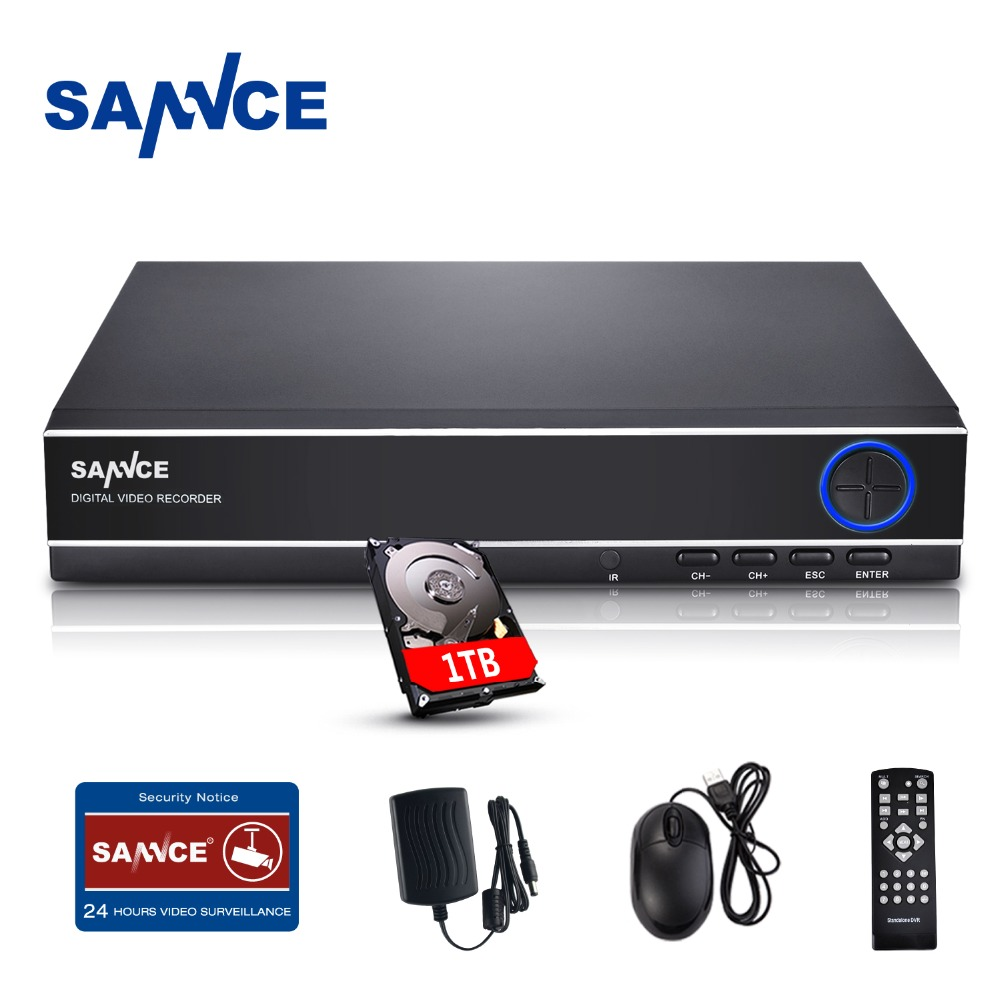 SANNCE 4 Channel Digital Video Recorder Full 1080N CCTV DVR H.264 1080P HDMI Output 4ch CCTV Surveillance DVR with 1TB HDD sannce 8 channel digital video recorder full 720p cctv dvr h 264 hdmi 1080p video output 8ch cctv surveillance dvr with 1tb hdd