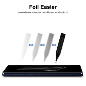 Image 2 - 삼성 S9Plus s10plus에 대 한 2pcs 화면 보호기 강화 유리 액체 전체 접착제 UV 빛 참고 10 플러스 S20 플러스 참고 20 울트라