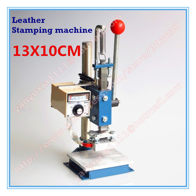 Best Quality! 10X13CM Manual Hot Foil Stamping Machine,leather printer,Creasing machine,marking press,embossing machine